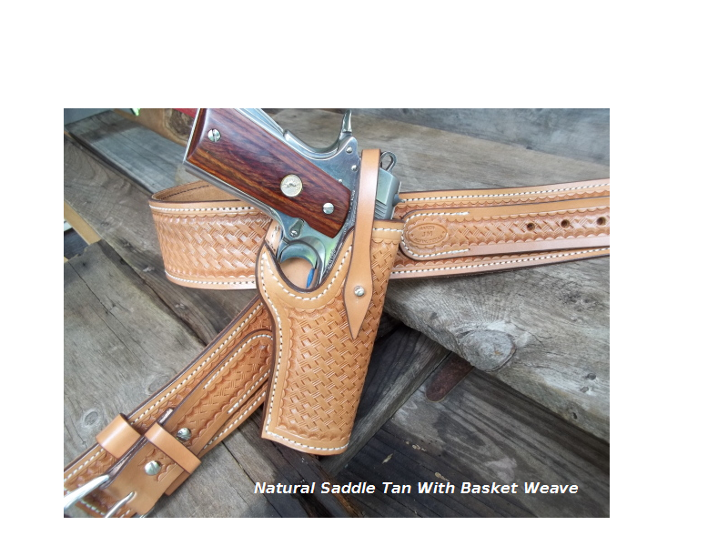 Saddle Tan Holster With Basket Weave